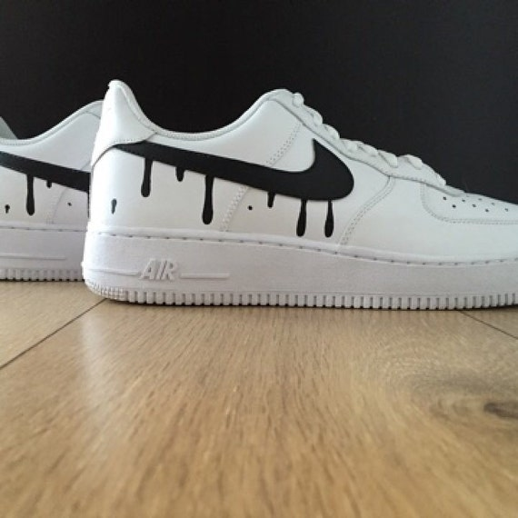 nike air force dripping swoosh