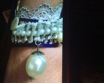Pearls and purple, with silver