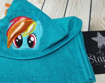 Rainbow Inspired Pony Towel