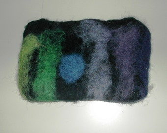 pure wool felted purses with SOAP and water