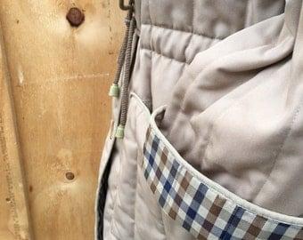aquacascutum vintage quilted button through jacket | size medium