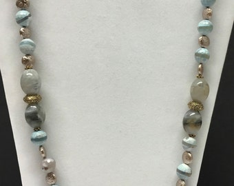 Oh So Baby Blue Necklace