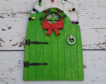 Fairy Door Elf Door Christmas Green Beautiful Handmade Various options
