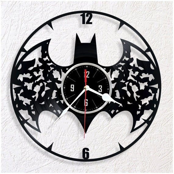 Reloj de pared de vinilo batman - Reloj de pared original ...