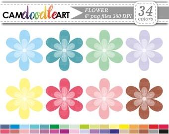 Flower Clipart, Bloom Clipart, Floral Clipart, Digital Clip Art, Cardmaking Clipart, Instant Download Clipart, png file