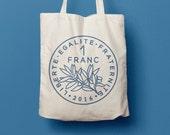 Tote Bag à 1 Franc, sac en coton, sac en toile, sac de courses, sac de plage, France, pièce, monnaie