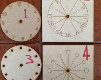 Clock face clock kit