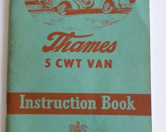 Thames 5 CWT Van Instruction booklet