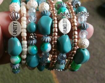 Beautiful bohemian wrap bracelet.