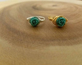 Spring Floral Wire wrapped ring.
