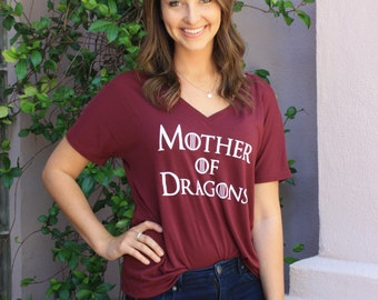 Mother of Dragons Tee, Game of Thrones Shirt, Comfy Mom Tee