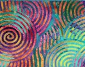 """Peinture abstraite à l'acrylique sur toile. Tableau """"Introspection"""" de Michaëlle Liefooghe. 30X60 cm"""