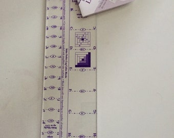 "Marti Michell Log Cabin Ruler,  3/4"" and 1-1/2"" Finished Strip, Blocks up to 13 1/2"""