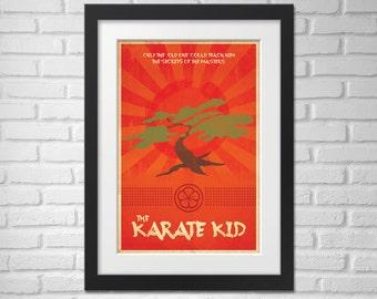 The Karate Kid Movie Poster - Illustration [Movie Poster The Karate Kid - The Karate Kid Movie Poster]