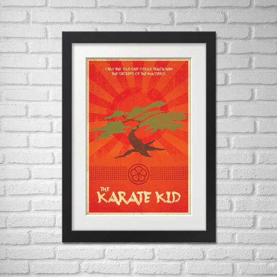 The Karate Kid Movie Poster - Illustration [Movie Poster The Karate Kid - The Karate Kid Movie Poster]