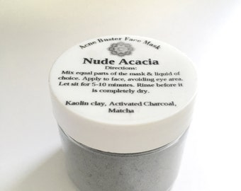 Acne Buster Face Mask• Clay mask, Face mask, Oily Skin, Activated Charcoal, Acne Treatment