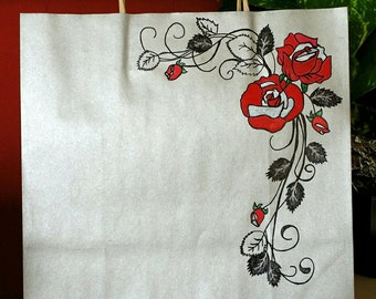 Beautifully Decorated Gift Bag *Roses*