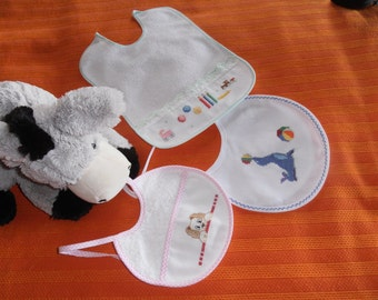 Hand Embroidered Bibs