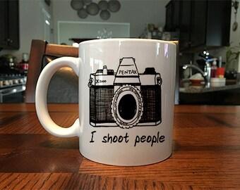 I Shoot People Photographer Coffee Mug