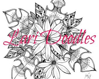 Adult Colouring Page, Adult Coloring Page, Coloring, Instant Digital Download, Zentangle, Botanical