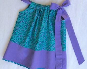 Baby Girl Dress, Animal Print Dress, Baby Dress, Toddler Dress, Pillowcase Dress, Party Dress, Little Girl Dress