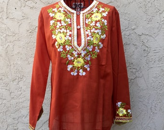 1960s Embroidered Tunic S-M