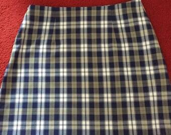 tartan skirt high waisted