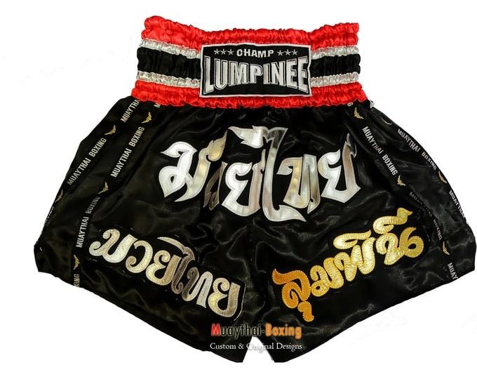 Champ Lumpinee Muay Thai Boxing Shorts Martial Arts - Black