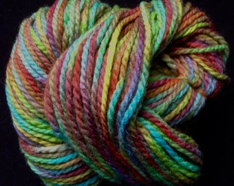 HAND-DYED PERUVIAN Yarn - Aran Weight