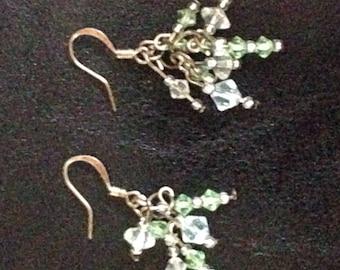 swarovski crystal cluster earrings