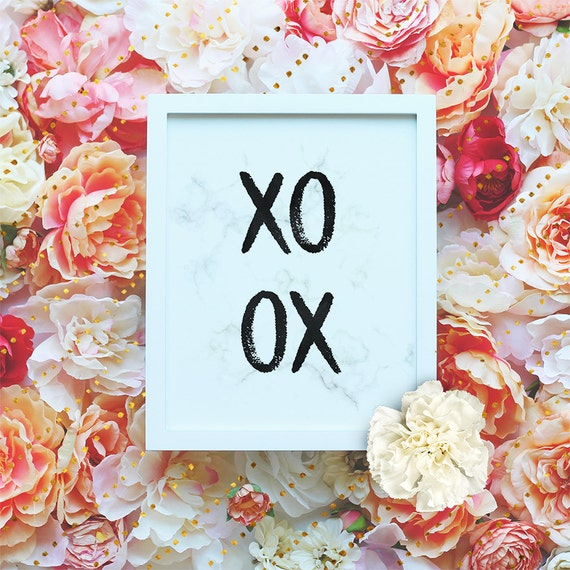 "XOXO Printable Wall Art, Marble poster, Love quote poster, 8x10"" Funny poster, Funny Printable, Modern minimalist wall art Instant Download"
