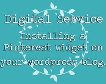 Digital Service: Installing a Pinterest Widget | Wordpress Blog