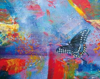 Black Swallowtail Butterfly Ceramic Tile, Flight to Euphoria