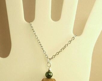 Chain with hazelnut hazelnuts chain fall jewelry