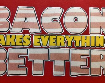 Bacon T Shirt,Shirt,Tee,T Bacon lovers t shirt