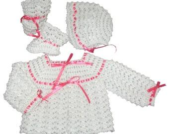 Girls White Sweater Set
