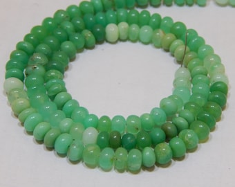 """17""""Inches Chrysoprase Smooth Beads Rondell Shape 5x5.5 mm Approx"""