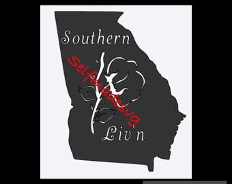Georgia Southern Liv'n svg design