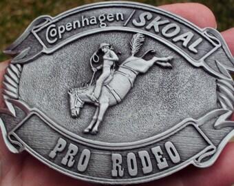 SPECIAL PRICE*** Copenhagen/Skoal pro-rodeo pewter finish belt buckle nice!
