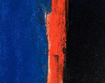 Original abstract oil painting - 5x7 inches - ships with a double ply 11x 14 inch white mat for display