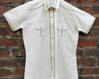 Cotton and Burlap Shirt