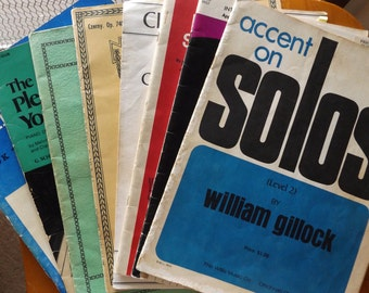 SALE Vintage Sheet Music for Piano & Orchestra Including Exercises, Solos, Duets, Etc.