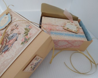 Victorian, gift boxed set of 8 dimensional notecards