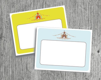 Circus Notecard // Lovely Notecards // Vintage // Stationery // Notecards // Thank You // 2 Different Designs // Instant Download // DIY