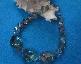 Unique Iridescent Shapely Glass Bracelet