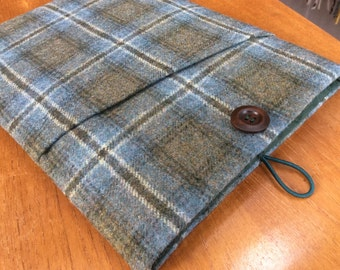 "MacBook 13"" Pro Air cover case, laptop sleeve, British tweed wool"