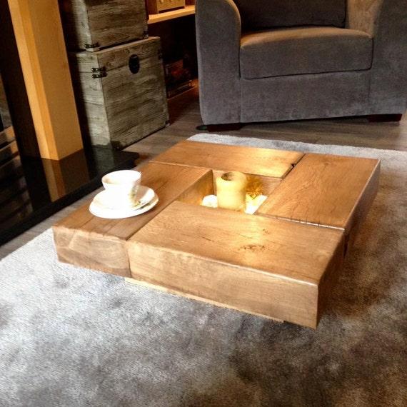 Oak sleeper Coffee Table wood coffee table coffee by Fretwells