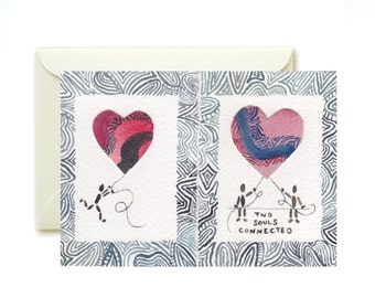 Hand-Painted heart Cards