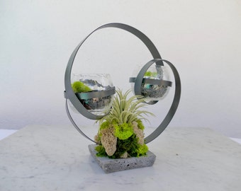 Abstract Faux Succulent Tea-Light Holder