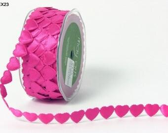 Ribbon Christmas Decorations  EX23 - FUCHSIA HEARTS